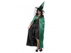 Oboustranný čarodějnický plášť (zelená/černá)
