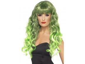 Dámská paruka Siren zelená