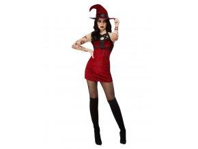 Dámský kostým Satanská čarodějnice (červená)SF11956