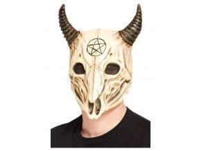 Maska satanská beraní lebka