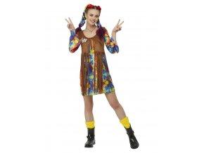 Dámský kostým hippies Smajlík