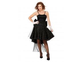 Dámské rara šaty 80. léta (černé)