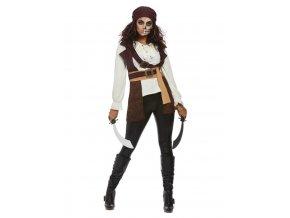 Dámský kostým temný duch pirátky
