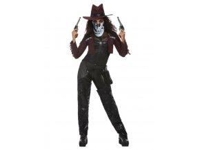 Dámský kostým temný duch kovbojky Deluxe