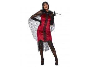 Dámský kostým flapper upírka Deluxe