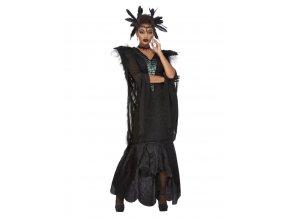 Dámský kostým havraní královna Deluxe