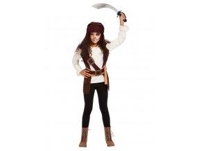 Dětský kostým duch pirátky