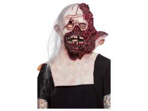 Latexová maska spálený obličej