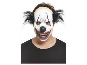 Latexová maska ďábelský černý klaun