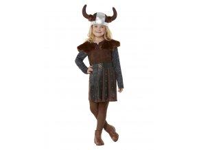 Dětský kostým vikingská princezna