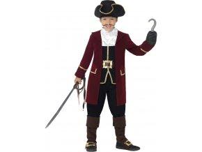 Dětský kostým Pirátský kapitán Deluxe