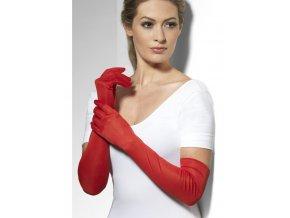 Dlouhé rukavice červené