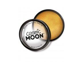 Metalický makeup Zlatý