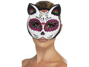 Maska kočka Den mrtvých
