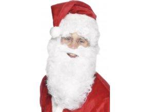 Bílé vousy na gumičku Santa