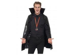 Černý upíří plášť s vysokým límcem
