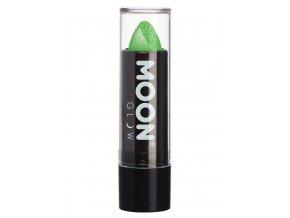 UV NEON glitrová rtěnka Zelená