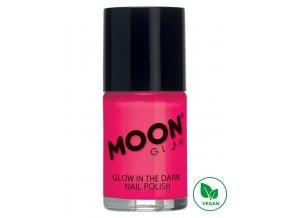 Fosforující UV lak na nehty Růžový