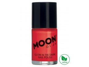 Fosforující UV lak na nehty Červený
