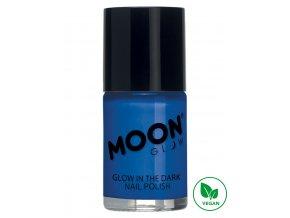 Fosforující UV lak na nehty Modrý