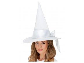 Deluxe čarodějnický klobouk bílý