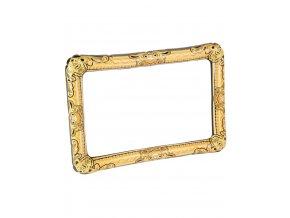 Foto dekorace nafukovací rám zlatý