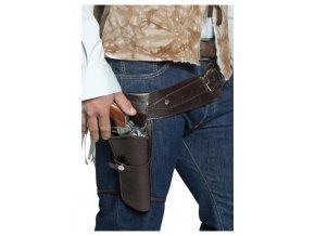 Deluxe Western pásek s pouzdrem na pistol