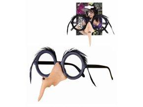 Brýle s čarodějnickým nosem