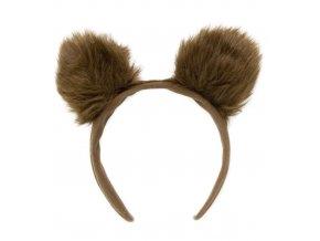 Zvířecí čelenka medvědí uši