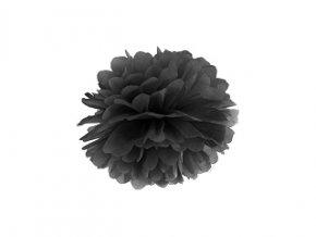 Pompom černý, 25cm