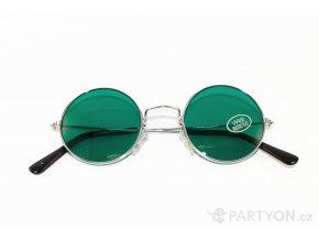 Brýle lenonky zelené