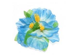 Havajský květ do vlasů modrý