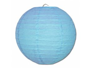 Kulatý lampion modrý, 20cm