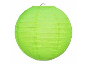 Kulatý lampion zelený, 20cm