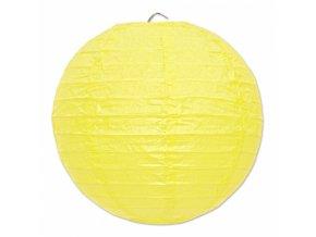 Kulatý lampion žlutý, 20cm