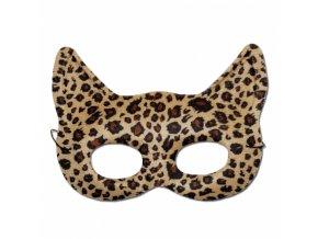 Látková kočičí škraboška - leopard