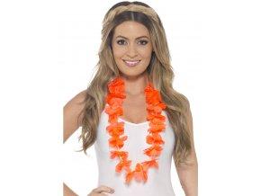 Havajský věnec oranžový zářivý