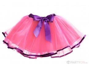 Tylová tutu sukně růžová s mašlí