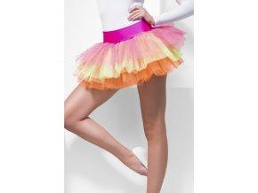 Řasená sukně barevná