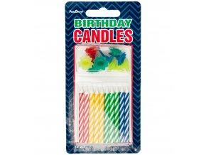 Dortové svíčky barevné 10ks