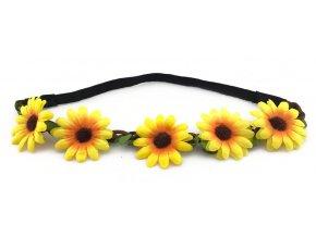 Květinová čelenka Slunečnice