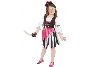 Dětský kostým Pirátka růžová