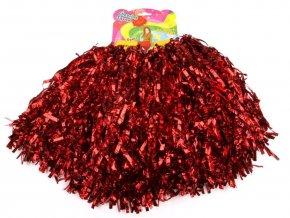 červené pompony pro roztleskávačky