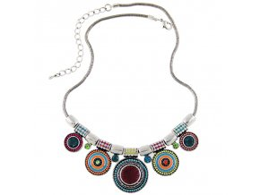 Hippie barevný náhrdelník Ethnic