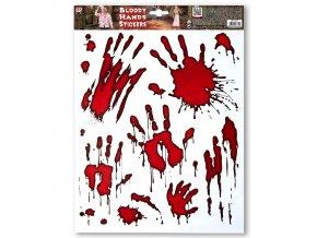 Nalepovací dekorace Krvavé ruce