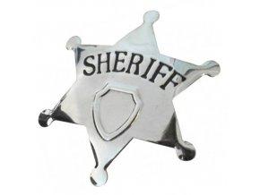 Šerifská hvězda kovová