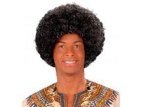 Černá afro paruka Černoch