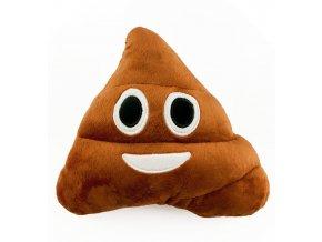 Emoji polštář Poop 23x20cm