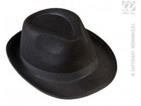 Černý fedora klobouk