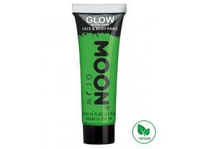 Fosforující UV barva na tělo a obličej Zelená